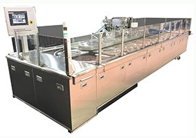 Crepe baking machine